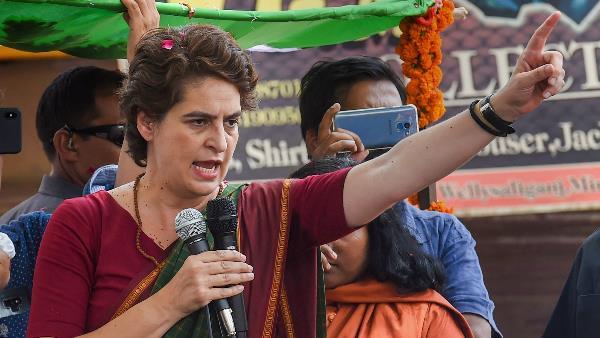 प्रियंका का केंद्र पर हमला, कहा- जब नमस्ते ट्रंप के लिए 100 करोड़ रु हैं, तो मजदूरों के लिए क्यों नहीं