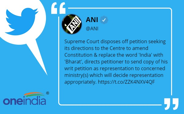 Supreme Court Disposes Of Plea To Change India's Name to 'Bharat'