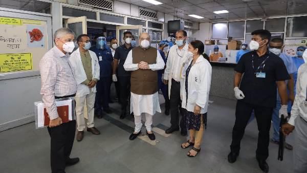 अस्पताल का दौरा करने के बाद गृहमंत्री अमित शाह ने दिए निर्देश, दिल्ली के कोविड वार्ड में लगेंगे सीसीटीवी