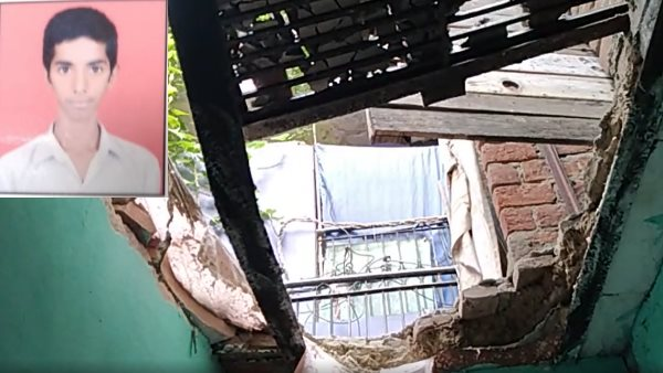 wall collapse in thunderstorm in delhi 19 year old student died