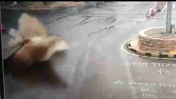Jodhpur: Explosion on road water bursting into the ground see video