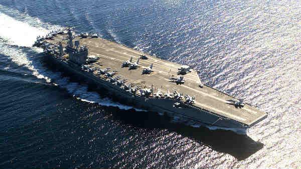 Image result for अमेरिका का खतरनाक युद्धपोत USS Nimitz