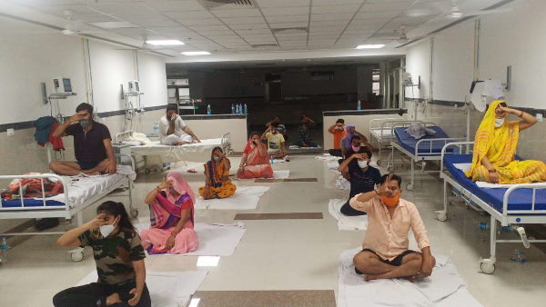 Yoga In Covid-19 Center of PBM Hospital Bikaner
