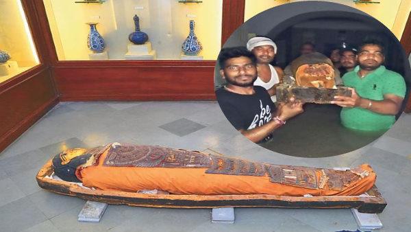 Jaipur : बरसाती पानी में डूबते-डूबते बची 2400 साल पुरानी ममी, 130 साल में पहली बार शोकेस से बाहर