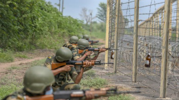 BSF troops foiled an infiltration bid of armed terrorists from Pakistan side