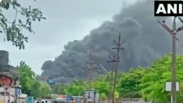 Massive Fire At Chemical Factory In Gujarats Valsad