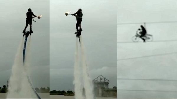 बारिश से पानी भरने पर उद्योगपति ने ऐसे उड़कर उतारी आरती- VIDEO