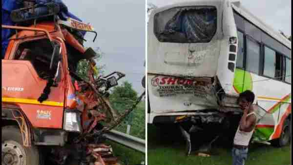 Four people died in a road accident on the Yamuna Expressway