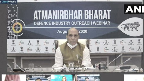 rajnath singh says We want to become self reliant to contribute to the world in a better way