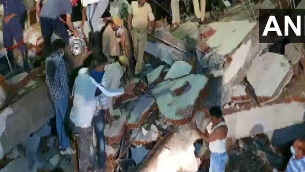 Gujarat: Three persons died after an under-construction building collapsed in Bawamanpura in Vadodara late last night. Rescue operation underway.