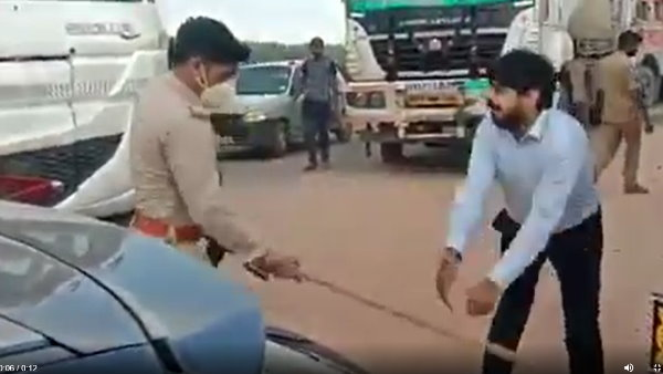 Gunner of BJP MLA beat car driver and journalist on road