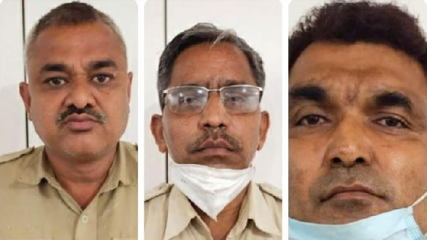 three Corrupt policemen taking Rs 100 bribe from tomato sellers, arrested by ACB