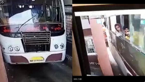 Man head severed after hit from pole in moving bus in jhansi