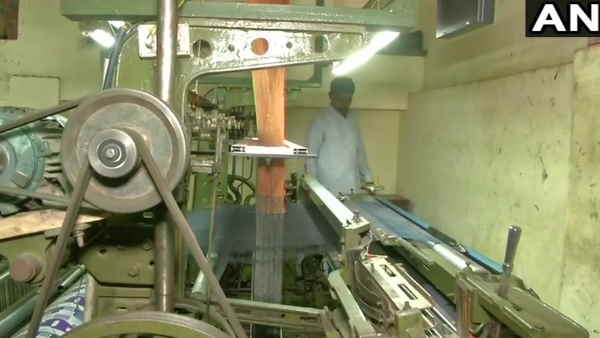 Powerloom workers on strike in Varanasi