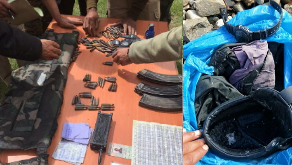 The terrorists had prepared for the war the army recovered huge amount of arms and ammunition
