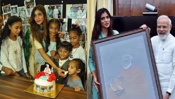 गुजरात की पेंटिंग्स बनाकर छाई चित्रकार ने PM मोदी के 70वें बर्थडे पर 70 बच्चों को लिया गोद, क्या बोली?