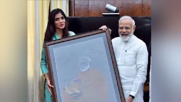 Surats female Painting Artist Sojitra Mittal Adopts 70 Children On PM Modis 70th Birthday