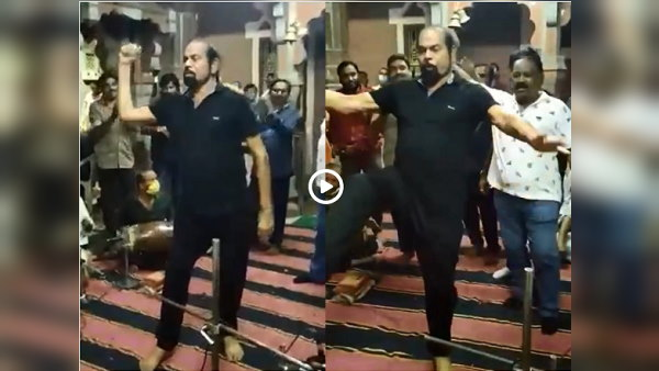 Watch Video: Vadodara BJP MLA Madhu Srivastava, who recovered from Covid, dances inside temple without mask