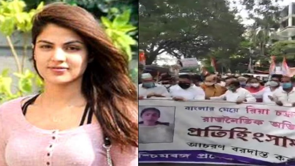 West Bengal Congress rallies in support of Rhea Chakraborty, social distancing
