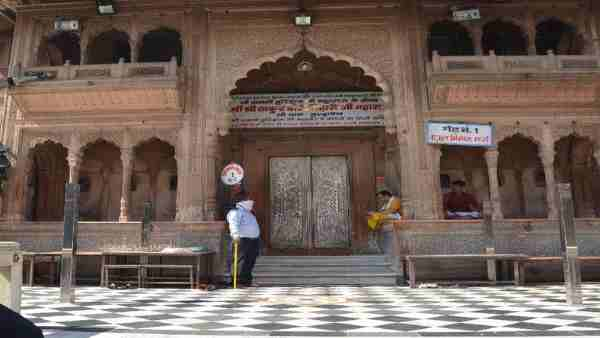 banke Bihari temple doors opened for devotees in vrindavan