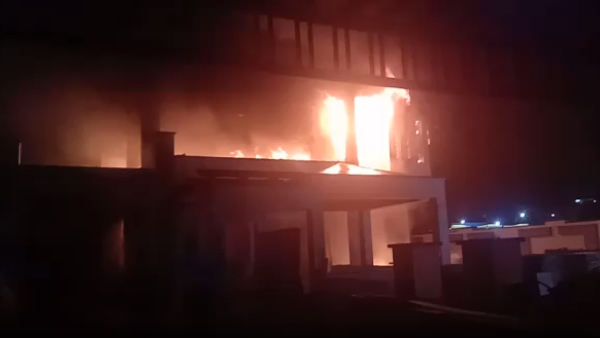 Fire in two-storey house under construction in Jaipur