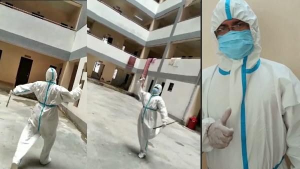 Watch Video: doctor garba with PPE Kit during covid-19