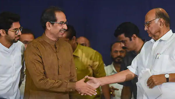 Sharad Pawar called on Maharashtra Chief Minister Uddhav Thackeray in Mumbai