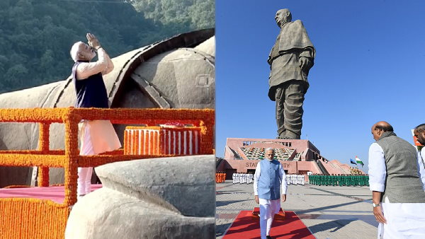 PM Modi will Visit Statue of Unity, Seaplane service to be start on 31st October