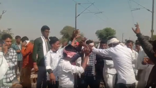 Gurjar movement Third day : Gurjar dance video viral on railway tracks