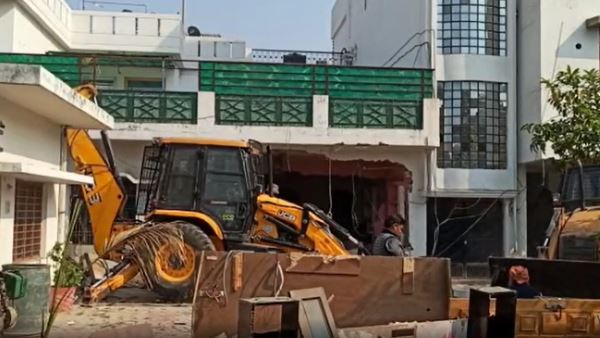 atiq ahmad relative illegal house demolished in prayagraj