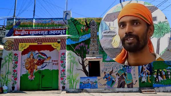 कैदी नंबर 259 : दीवारों पर सैंकड़ों खूबसूरत पेंटिंग्स बनाकर साधुराम ने बदली उदयपुर सेंट्रल जेल की तस्वीर