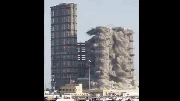 वर्ल्ड रिकॉर्ड बनाने के लिए 144 मंजिला टॉवर को किया गया ध्वस्त, देखें वीडियो