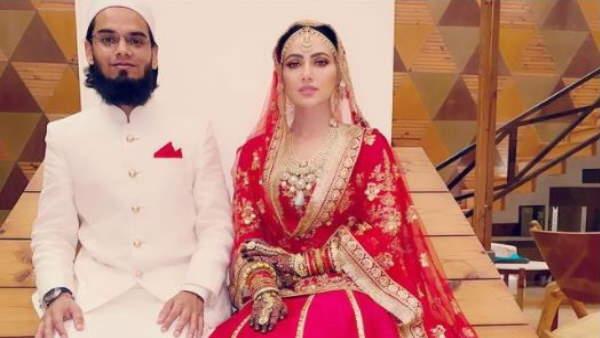 बॉलीवुड छोड़कर मौलवी से शादी करने वाली सना खान और अनस सैयद ने एक दूसरे की उतारी ऐसे नजर, देखें वायरल वीडियो