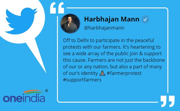 Off to Delhi to participate in the peaceful protests with our farmer: harbhajan mann
