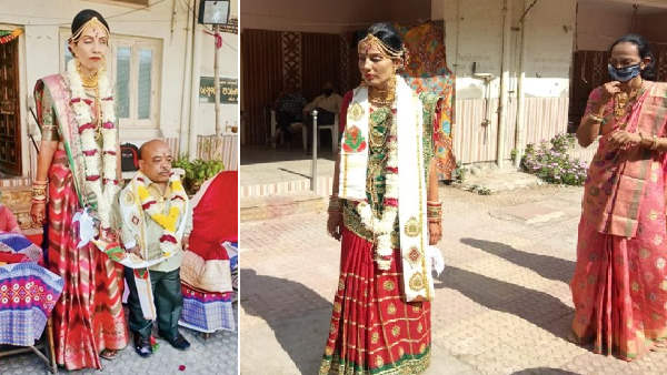 In Junagadh, Gujarat: 5.5 feet Blind Girl marry to 3 feet long Government Teacher