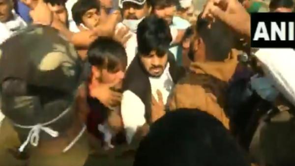 Bharat Bandh के दौरान जयपुर में BJP-कांग्रेस कार्यकर्ता भिड़े, राजस्थान पुलिस ने भांजी लाठियां