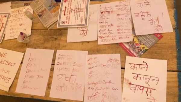 Farmer protest: किसानों ने खून से पीएम मोदी को लिखा लेटर, बोली ये बात
