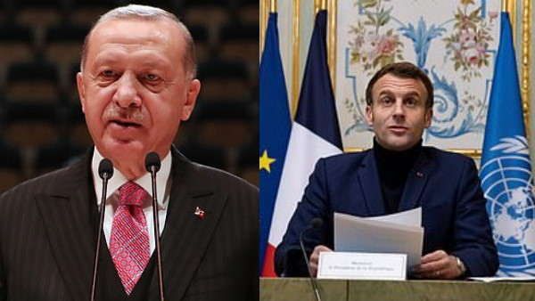 President of Turkey said President Macron is in trouble for France will get rid soon