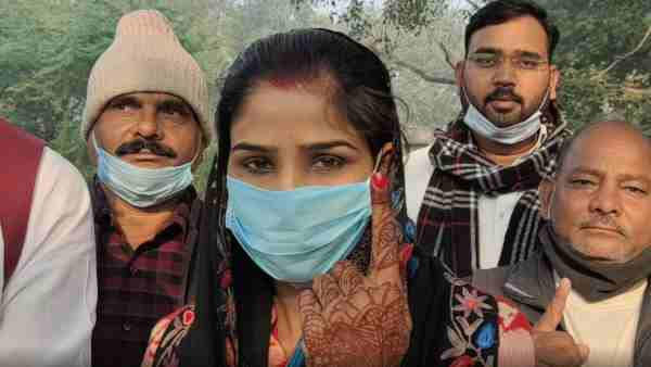 MLC Election 2020: bride done voting in hardoi after marriage