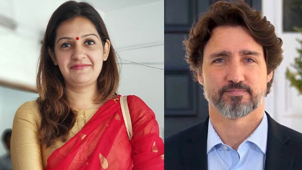 Canadian PM Justin Trudeau supported the farmers movement Priyanka Chaturvedi raised objections