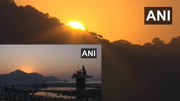 Last sunset of 2020 last sunset Pictures of year 2020 went viral on social media