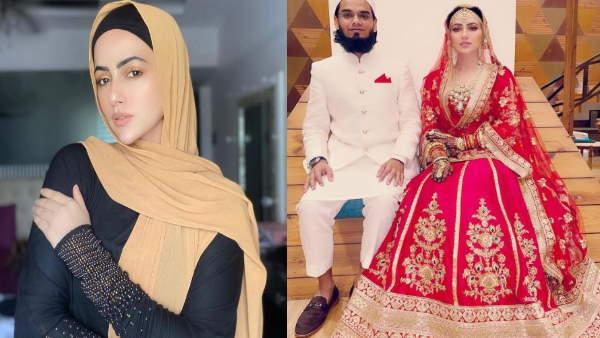 <strong>बॉलीवुड छोड़ मौलवी संग ब्याह रचाने वाली सना खान ने पहना लाल चूड़ा, दिखाई नुसरत जहां जैसी दिलेरी</strong>