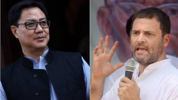 Kiren Rijiju attacked Rahul Gandhi report which claimed that China was building village in Arunachal