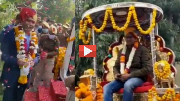 Viral Video : सीकर SP को बग्घी पर बैठाकर शहर में घुमाया, अजमेर में लगे 'कुंवर राष्ट्रदीप जिंदाबाद' के नारे