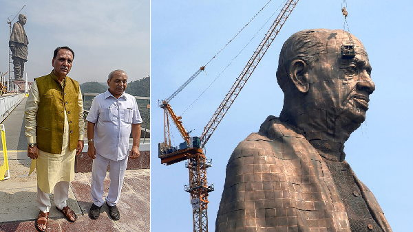 gujarat deputy CM nitin patel over trains to Statue of Unity