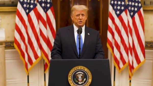 Donald Trump last address as president enumerated achievements at Farewell Speech