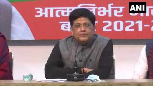 किसान विरोध पर बोले रेल मंत्री पीयूष गोयल, कृषि कानून करोड़ों किसानों के फायदे के लिए लाए गए