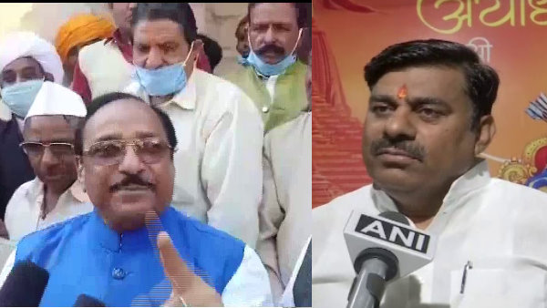 BJP leaders drinking liquor with donations of money in the name of Ram temple