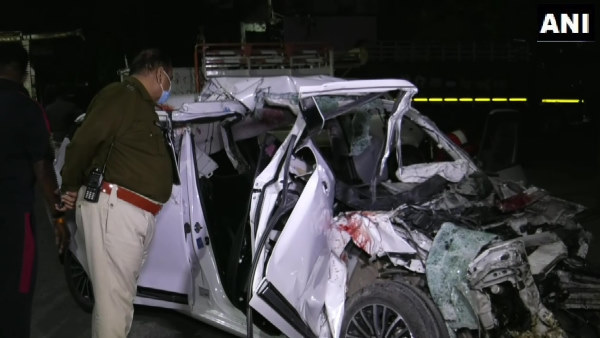Car collided with tanker parked near petrol pump, six youths killed In Indore