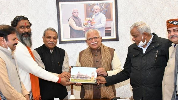हरियाणा के CM खट्टर ने राम मंदिर निर्माण के लिए दिए 5.10 लाख रु., 6726 गांवों में चल रहा अभियान